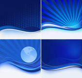 Abstract blue set — Stock Vector