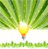Pozadí abstraktní s žárovku místo slunce — Stock vektor