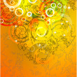 Stock Vector: Abstract orange background