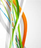 Vector color lines. Abstract vector background — Vecteur