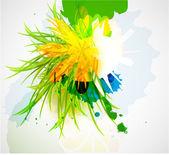 Abstrakt vacker blomma bakgrund — Stockvektor