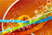 色の線をベクトルします。抽象的なベクトルの背景 — ストックベクタ