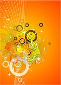 Abstrait orange — Vecteur