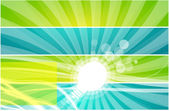 Vector light bulb background — Stock Vector