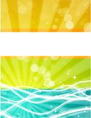 抽象的なカラフルな背景のベクトル — ストックベクタ