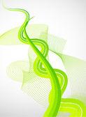 緑の線 — ストックベクタ
