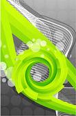 抽象的な背景が緑 — ストックベクタ