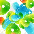 Abstract vector glass color shapes background — 图库矢量图片