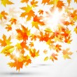 Abstract vector autumn background — Stock Vector