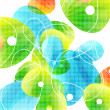 Abstract vector glass color shapes background — Vettoriali Stock