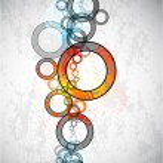 Abstract grungy circles. Vector background — Stock Vector #5987785