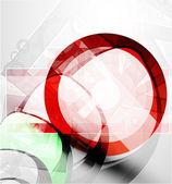 Techno astratto cerchio vector sfondo — Vettoriale Stock