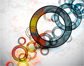Abstract grungy circles. Vector background — Stock Vector