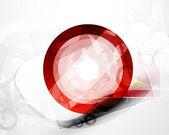 Abstract techno circle vector background — Stock Vector