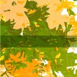 Royalty-Free Stock Immagine Vettoriale: Vector autumn leaves abstract background