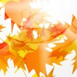 Royalty-Free Stock ベクターイメージ: Vector autumn leaves abstract background