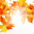 Royalty-Free Stock Vectorielle: Vector autumn leaves abstract background