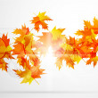 Vector autumn leaves abstract background — Stock Vector #6021794