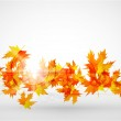 Vector autumn leaves abstract background — Stock Vector #6021832