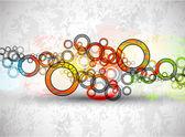 抽象的なグランジ円のベクトルの背景 — ストックベクタ