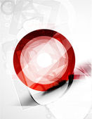 Abstract red round shape. Vector technology — Stock Vector