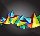 ガラス透明なピラミッドを背景 — ストックベクタ