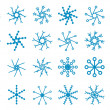 Snowflakes icons — Stock Vector