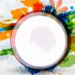 Abstract vector colorful shapes background - Stockvectorbeeld