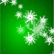 Vector green christmas background — Stock Vector #6135042