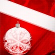 Red christmas vector background — Vettoriali Stock