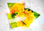 Vector square abstract background — Stock Vector
