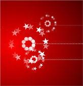 Красный рождественские Векторный фон — Cтоковый вектор