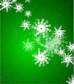 Vector green christmas background — Stock Vector