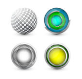 Vector glossy round buttons — Stock Vector