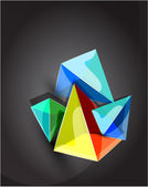 Vector abstract pyramid background — Stock Vector
