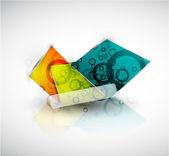 正方形の抽象的な背景をベクトルします。 — ストックベクタ