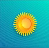 Gula solen vektor bakgrund — Stockvektor