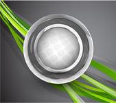 Resumen tecnología círculo fondo — Vector de stock