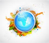 Vector Earth globe conceptual background — Stock Vector