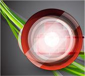 Abstraktní technolgií kruh — Stock vektor