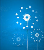 Abstract snowflake vector blue background — Stock Vector