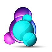 Abstrait verre forme vecteur fond — Vecteur