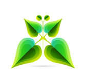 Vector abstract leaf butterfly. Nature concept — Stock Vector