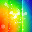 Vector rainbow shiny abstract background — Stock Vector
