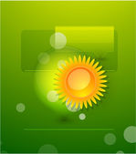 Vector nature web box — Stock Vector
