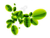 Abstract leaves. Nature vector background — Cтоковый вектор