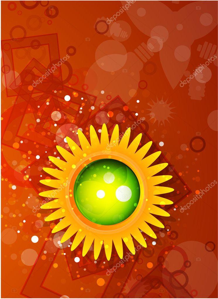 橙色闪亮矢量背景 — 图库矢量图片