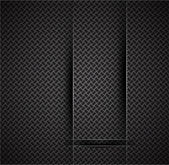 Transparent glass shapes on carbon texture — Stock Vector