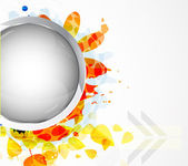 Vector autumn themed vector abstract background — Stock Vector