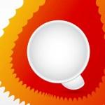 Abstract white empty speech bubble icon — Stock Vector